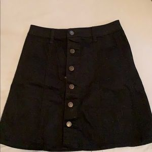 Mossimo button up black skirt